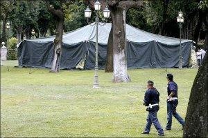Exhibit a: tent.